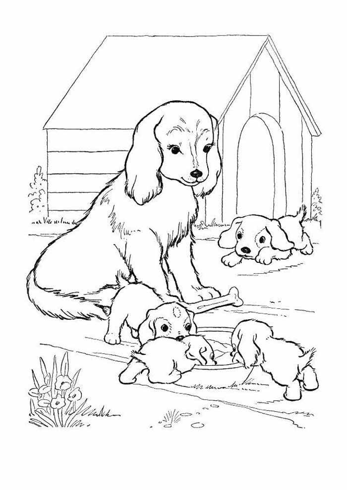 familia-de-cachorros-para-colorir