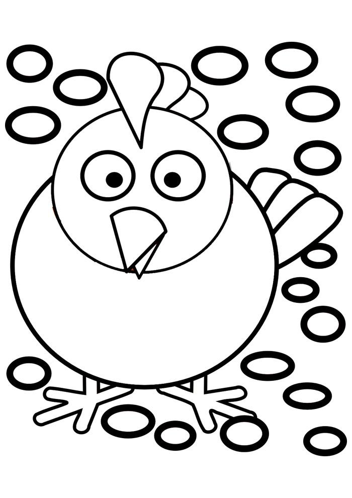 galinha para colorir 21
