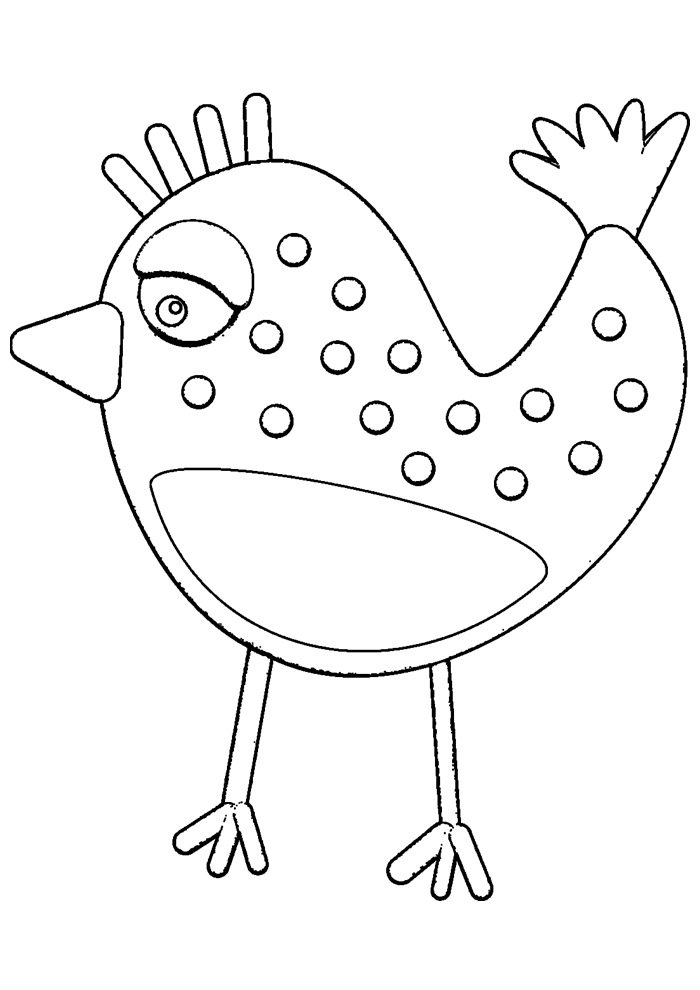 galinha para colorir 3