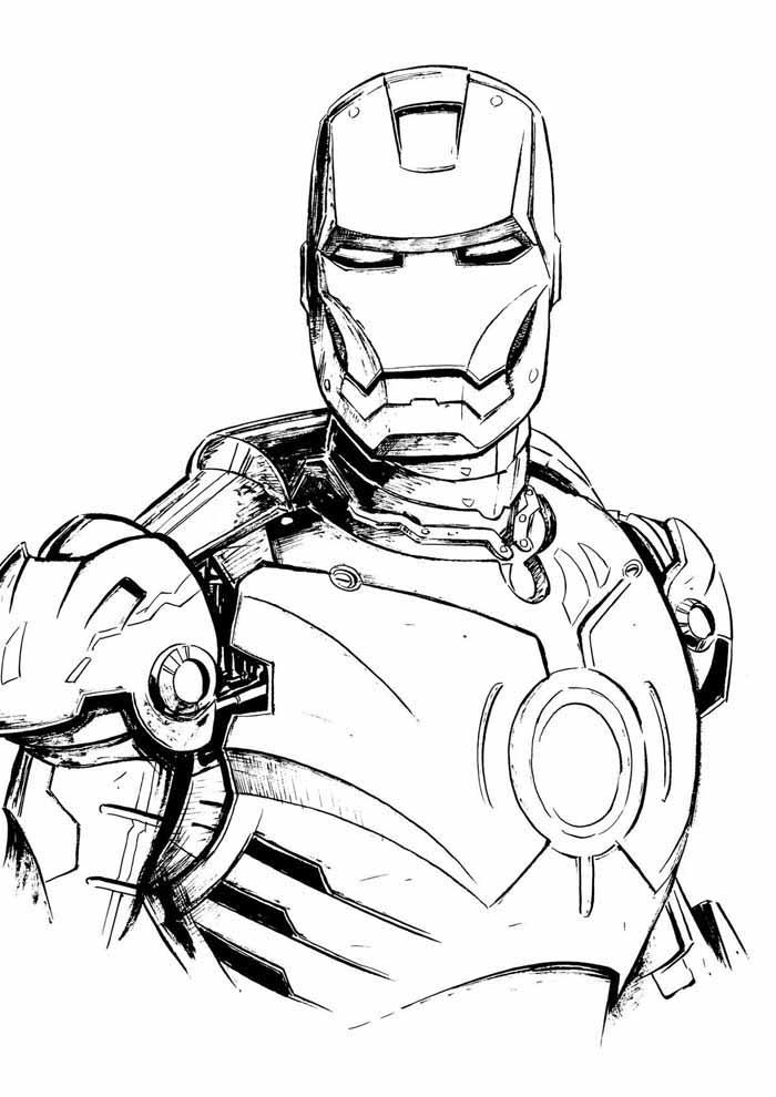 homem de ferro para colorir 16