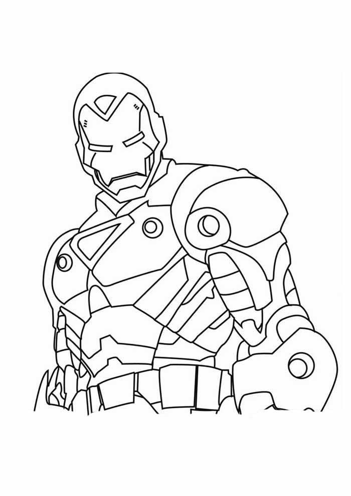 homem de ferro para colorir 17