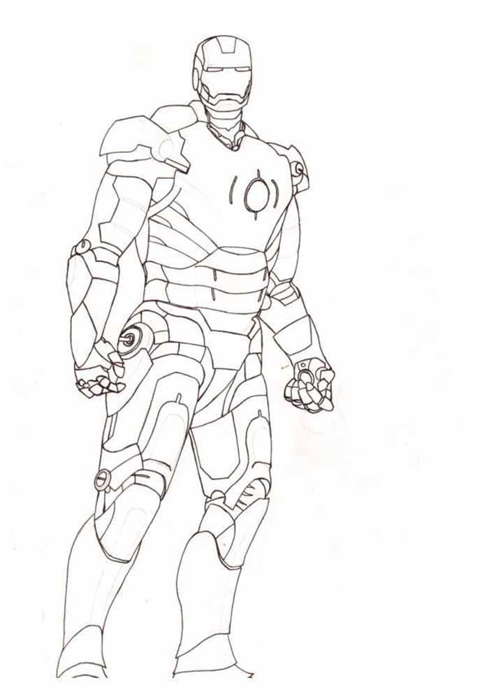 homem de ferro para colorir 18