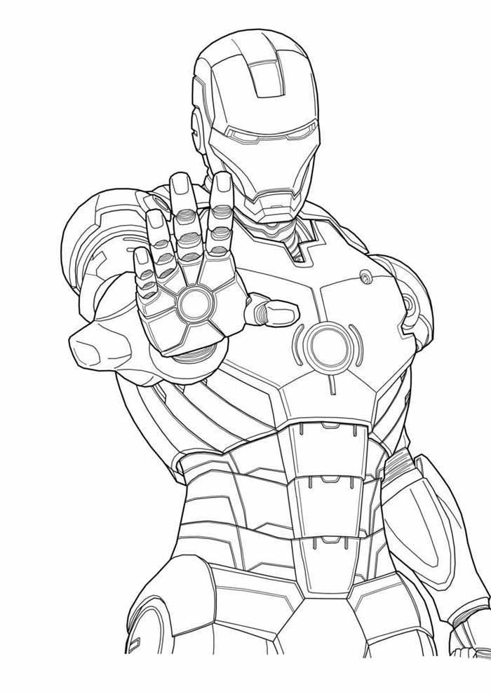 homem de ferro para colorir 2