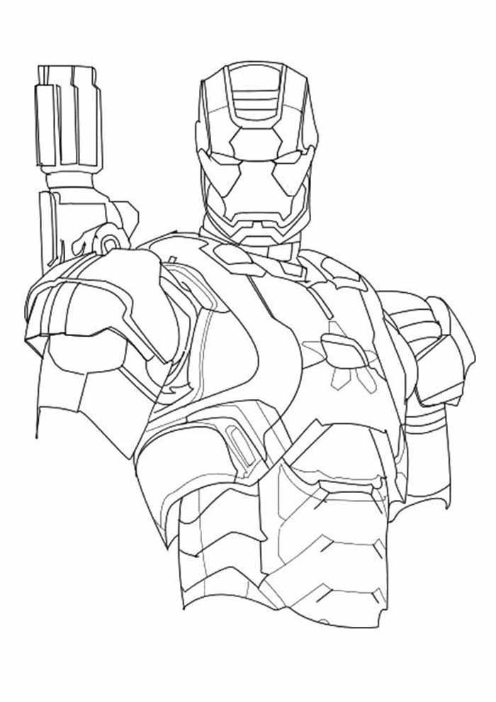 homem de ferro para colorir 31