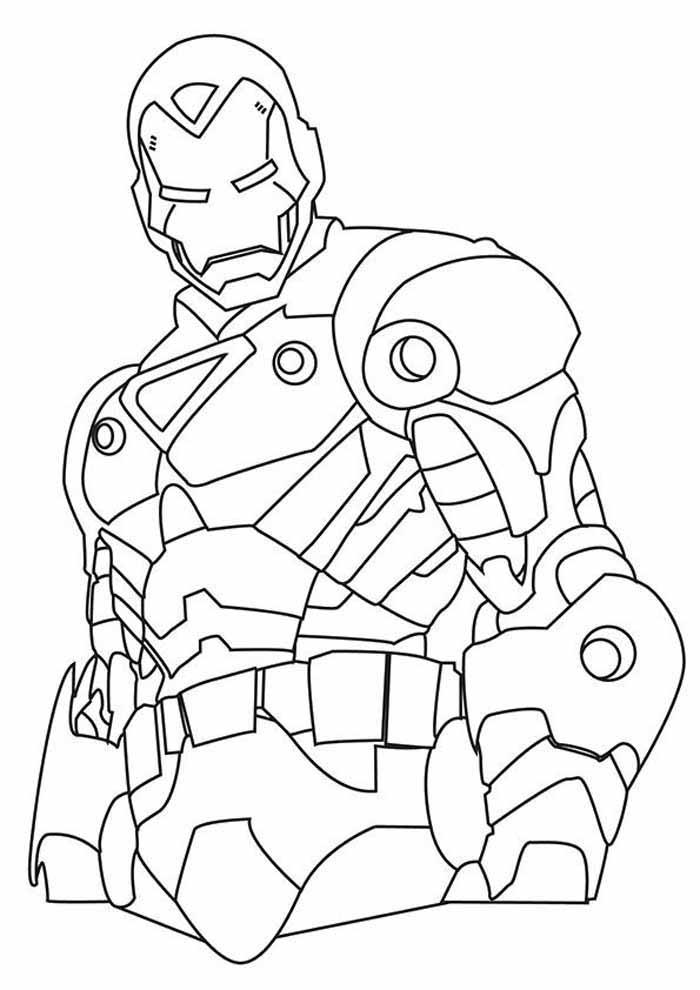 homem de ferro para colorir 37