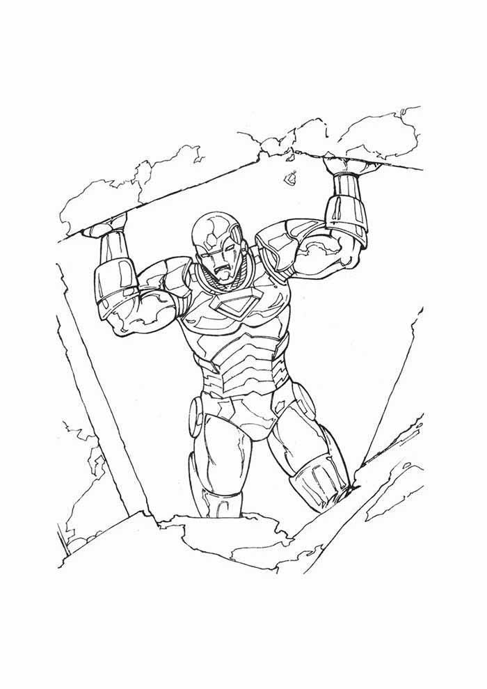 homem de ferro para colorir 4