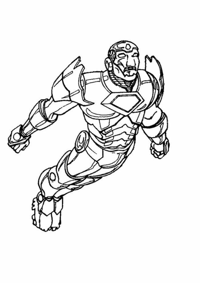 homem de ferro para colorir 7