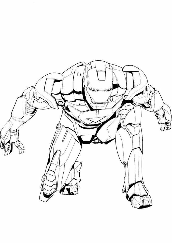 homem de ferro para colorir 8