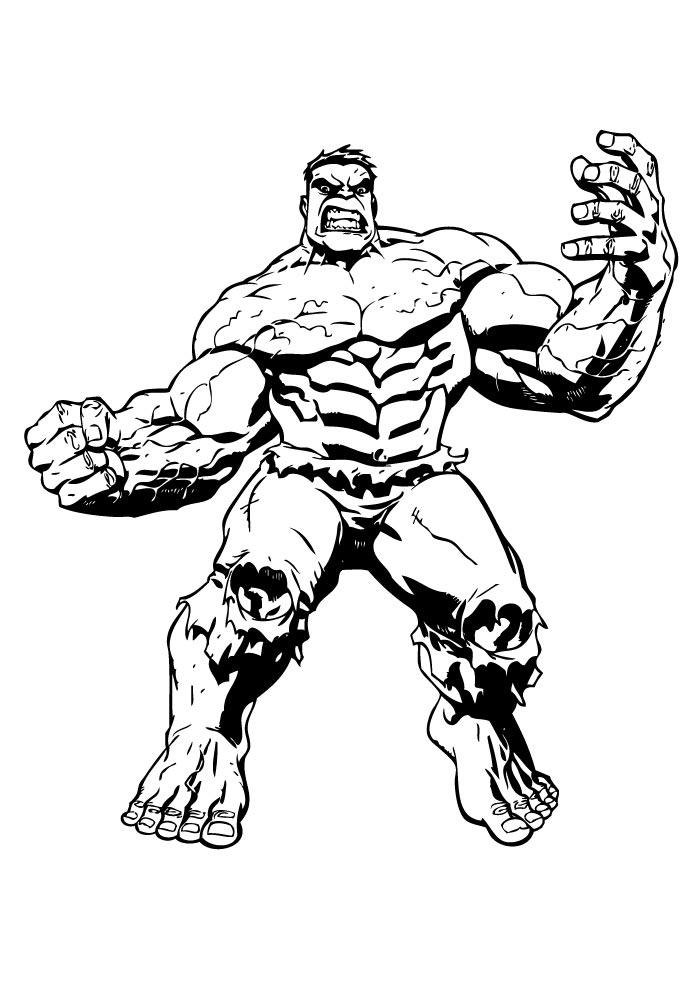 hulk para colorir músculos