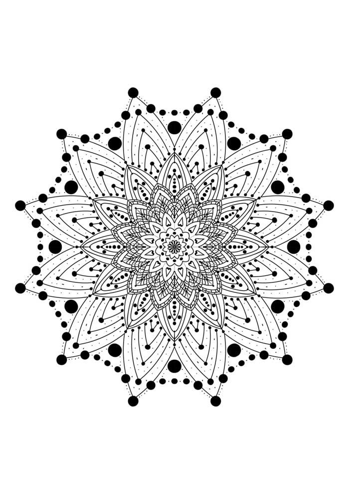 mandala-para-colorir-com estrela