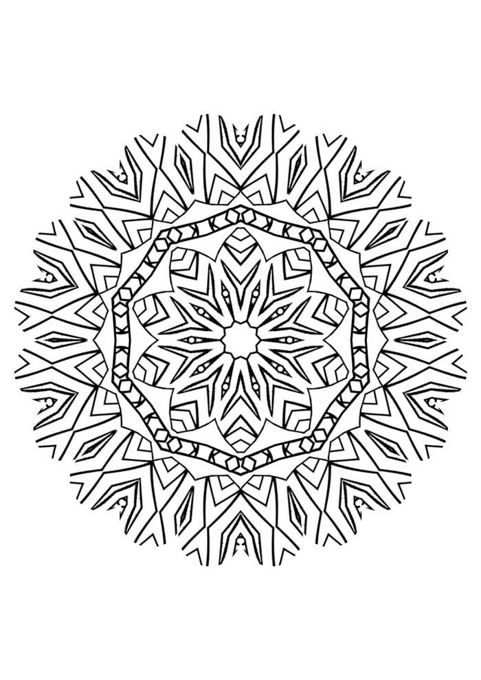 mandala-para-colorir-detalhada-estrela-simples