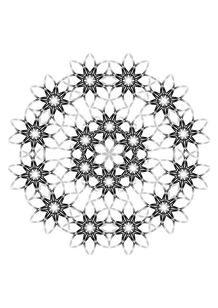 mandala-para-colorir-estrelas