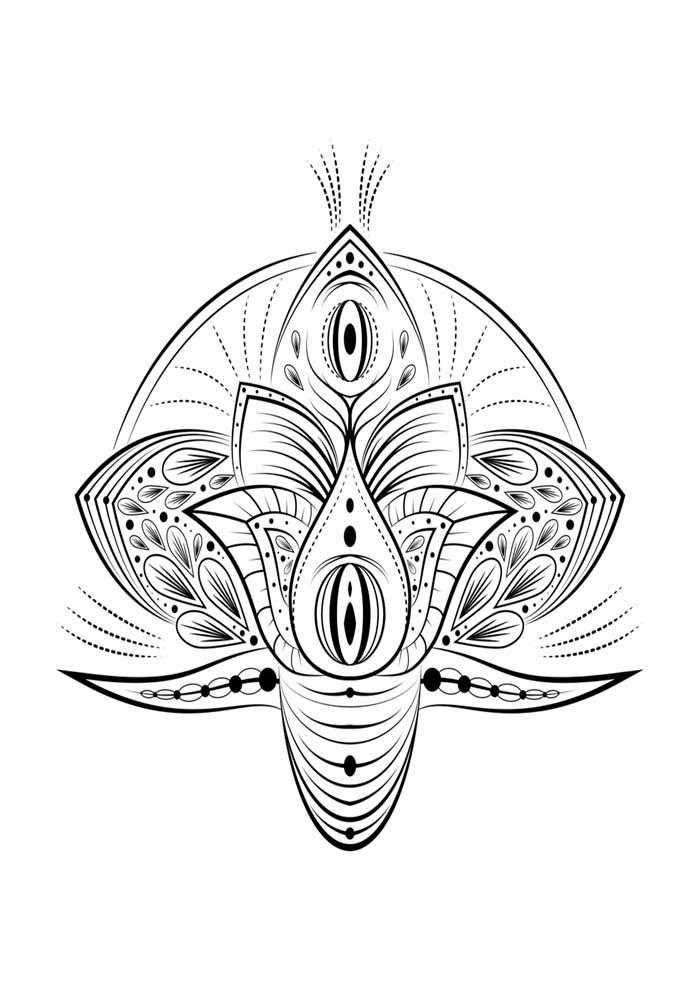 mandala-para-colorir-flor de lotus