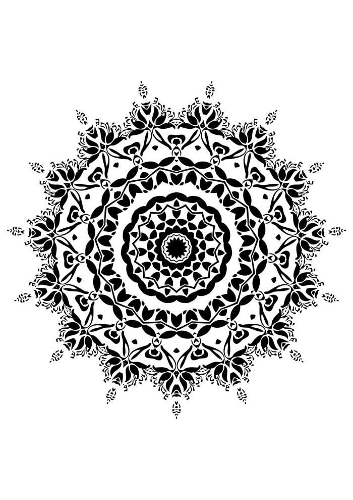 mandala-para-colorir-indiana