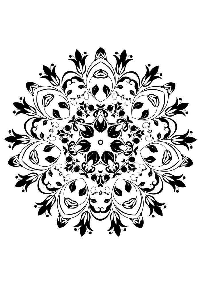 mandala-para-colorir-mandala flor