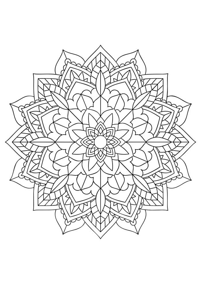 mandala-para-colorir-mandala geometrica