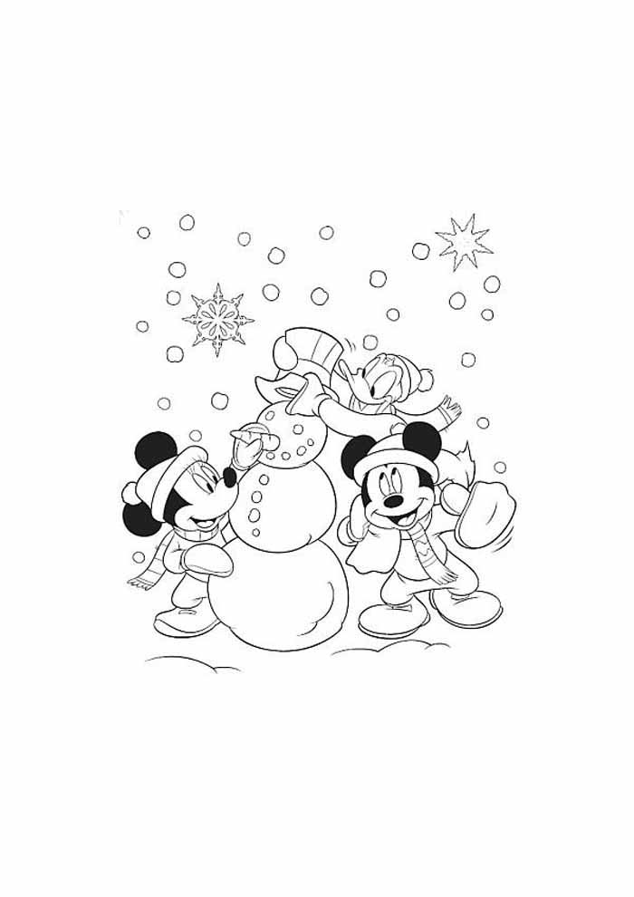minnie para colorir no natal