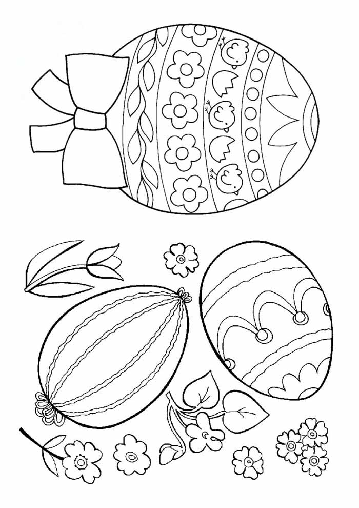 ovos de páscoa para colorir 1