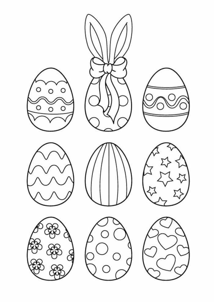 ovos de páscoa para colorir 5