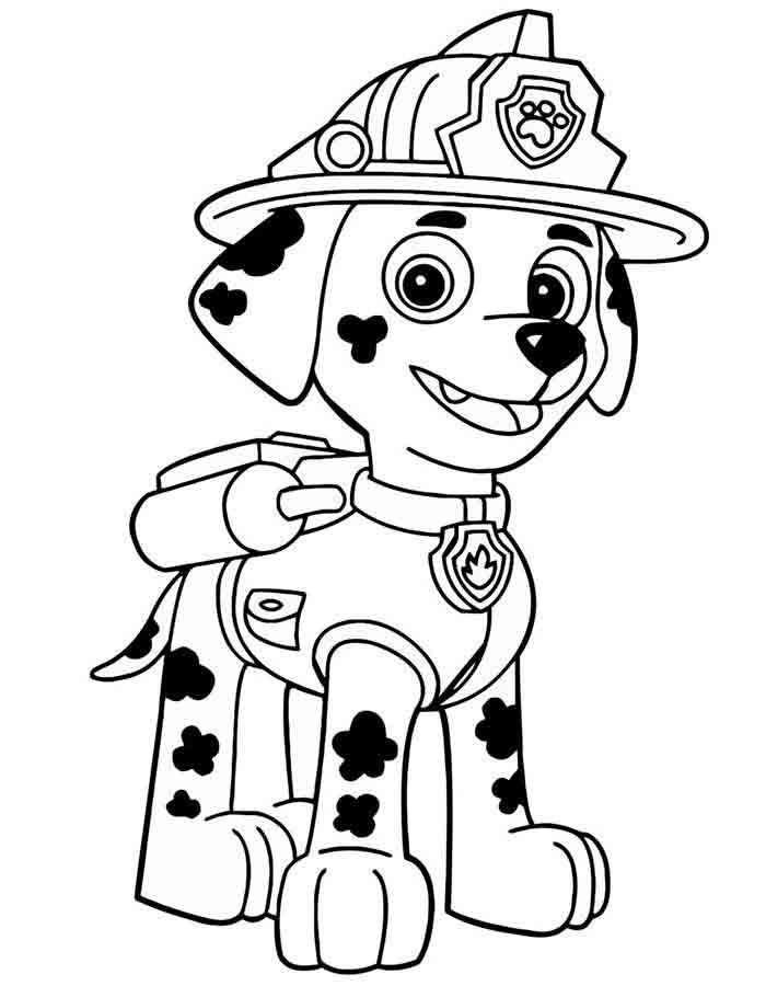 patrulha canina para colorir marshall sozinho