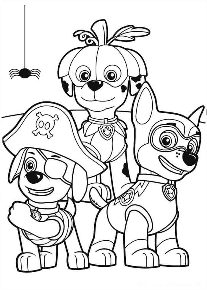 patrulha canina para colorir mascarados