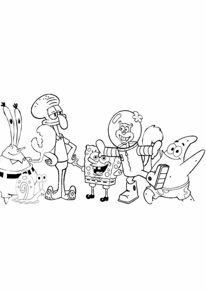 personagens bob esponja para colorir