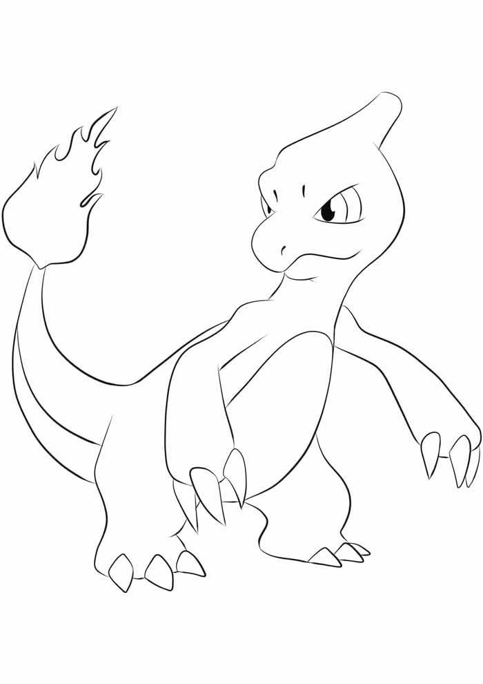 pokemon para colorir charmeleon