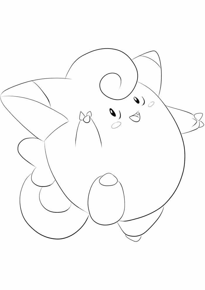 pokemon para colorir clefairy