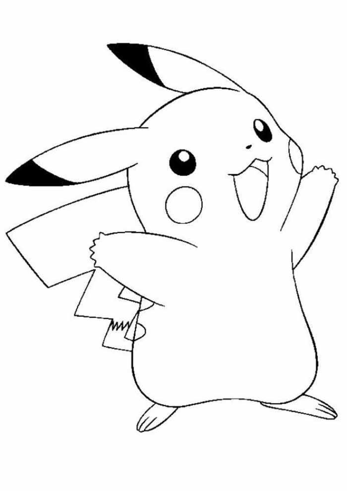 pokemon para colorir pikachu