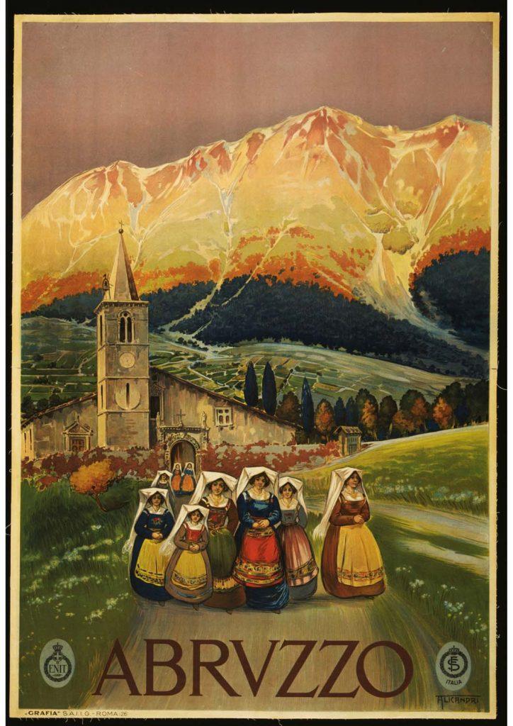 poster para imprimir Abrvzzo Itália