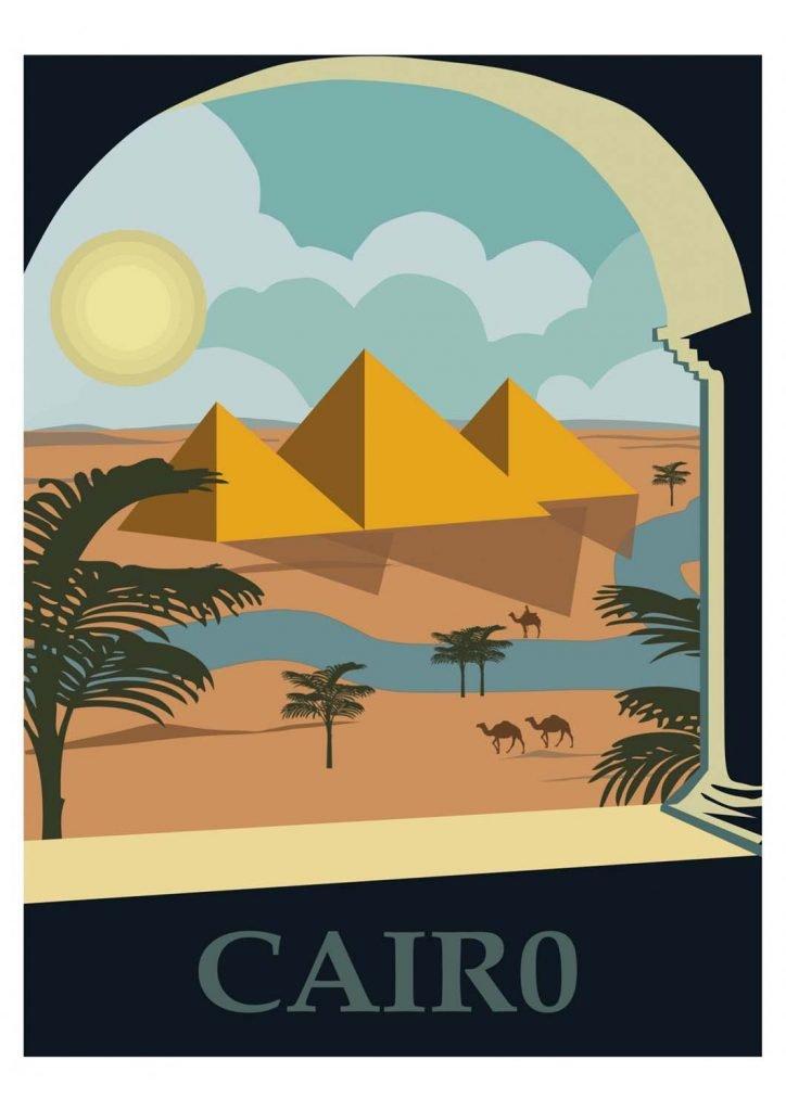poster para imprimir Cairo Egito