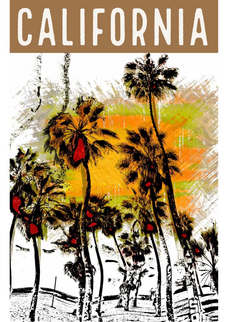 poster para imprimir Califórnia