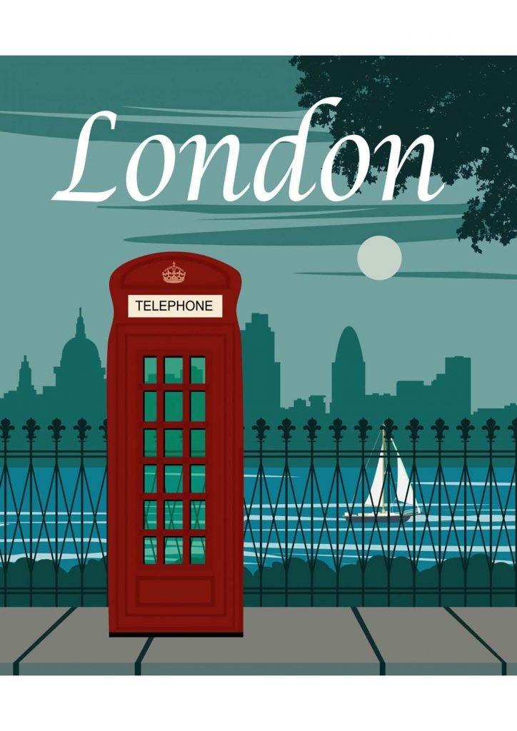 poster para imprimir Londres