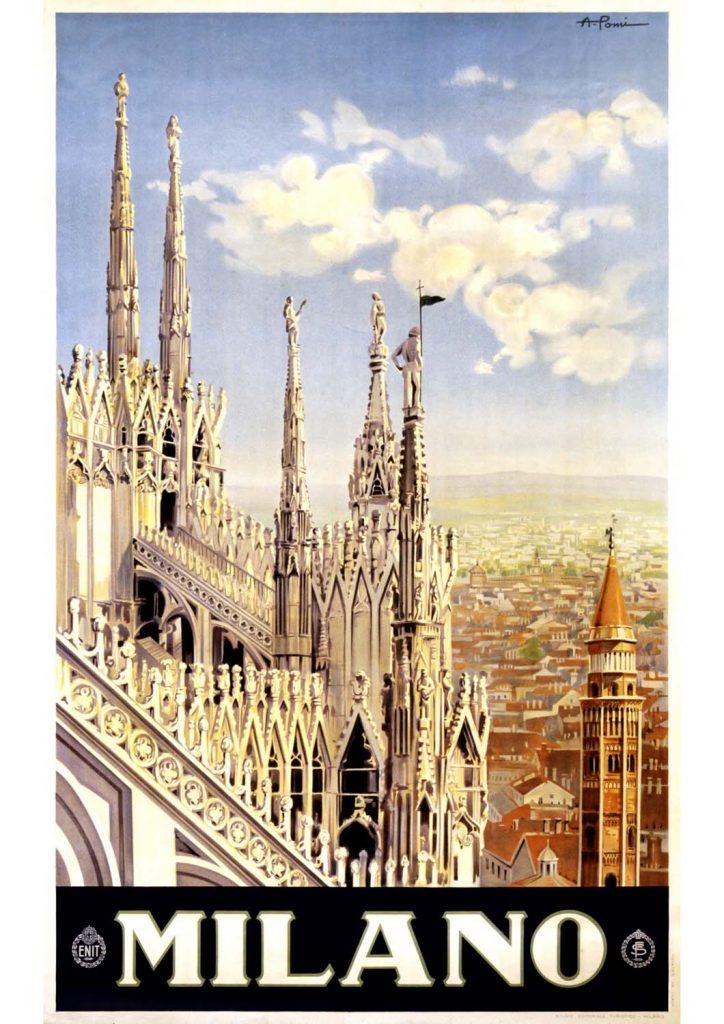 poster para imprimir Milão