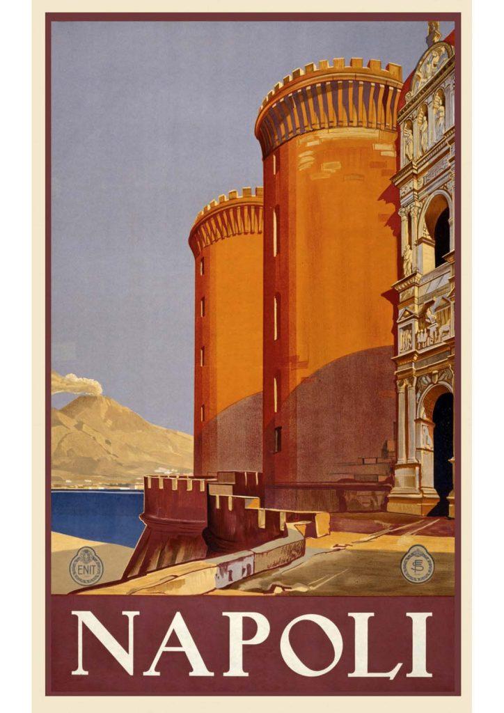 poster para imprimir Napoli Itália