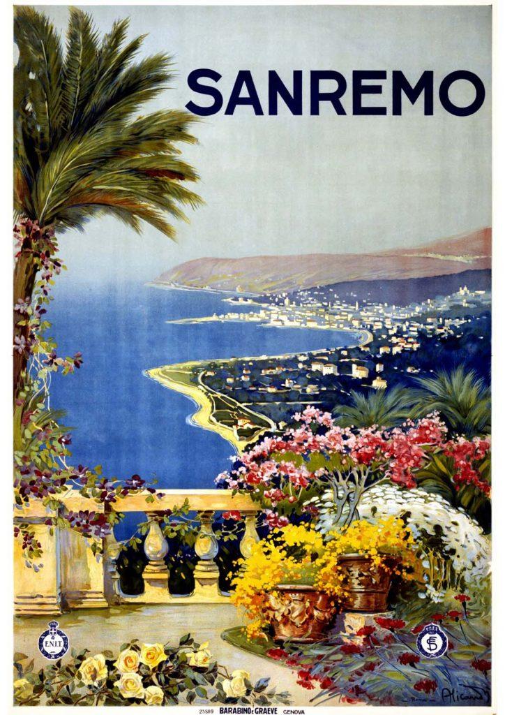 poster para imprimir Sanremo