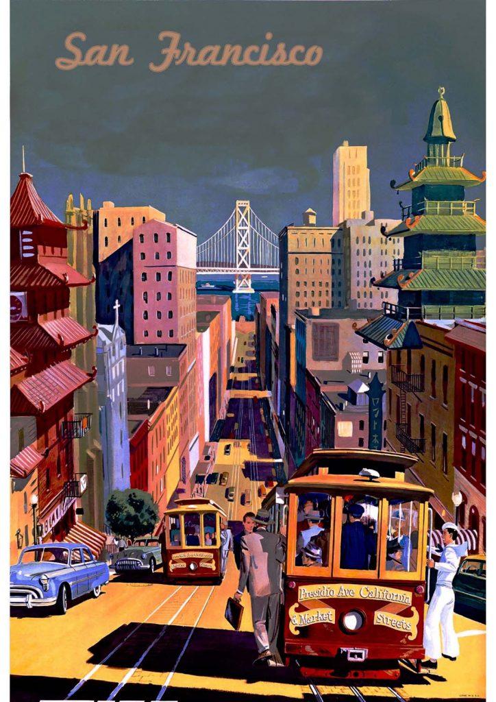 poster para imprimir São Francisco Califórnia