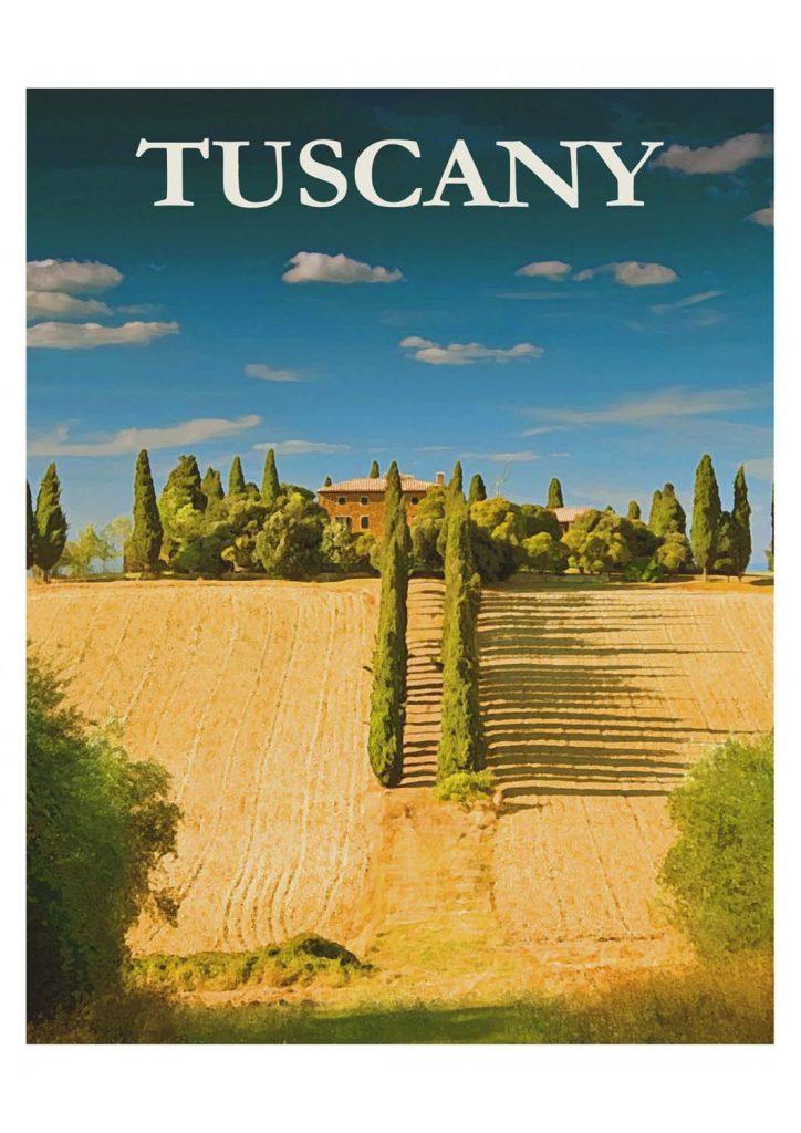 poster para imprimir Toscana