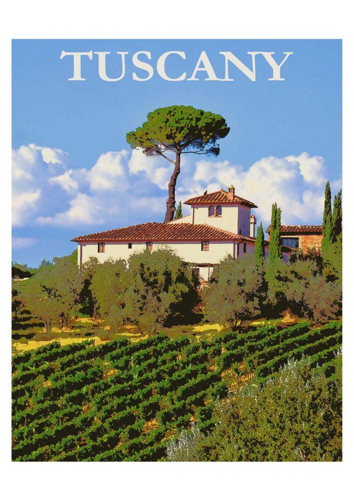 poster para imprimir Toscana Itália