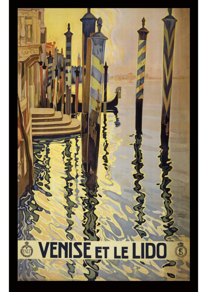 poster para imprimir Veneza El Lido Itália