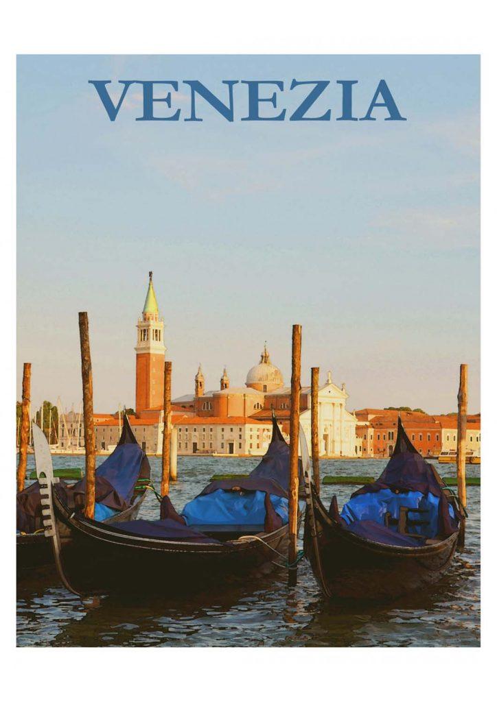 poster para imprimir Veneza Itália