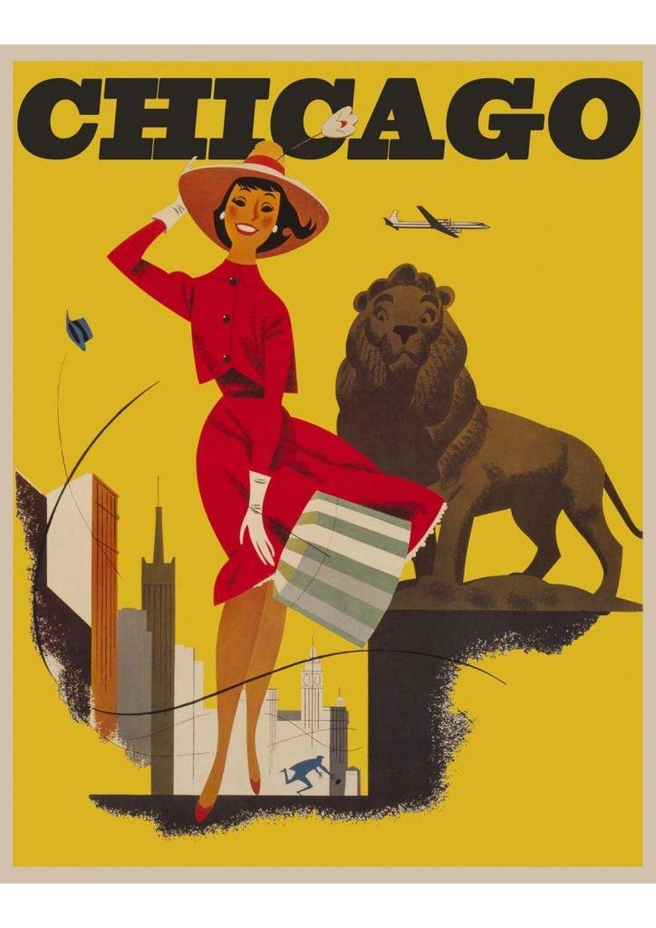 poster para imprimir vintage Chicago
