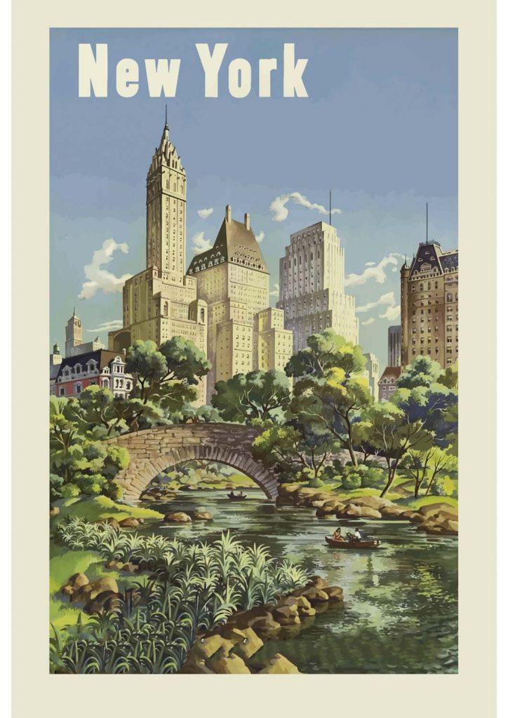 poster para imprimir vintage Nova York