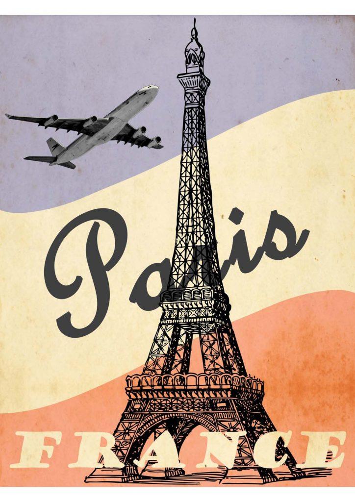 poster para imprimir vintage Paris