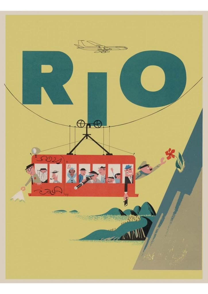 poster para imprimir vintage Rio de Janeiro