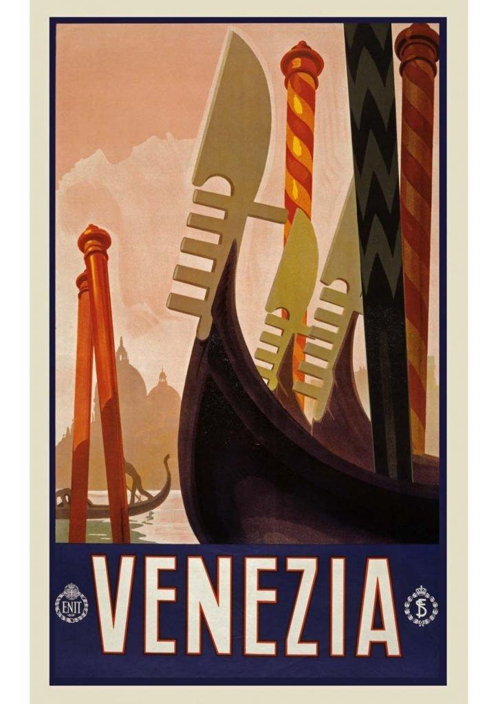 poster para imprimir vintage Veneza