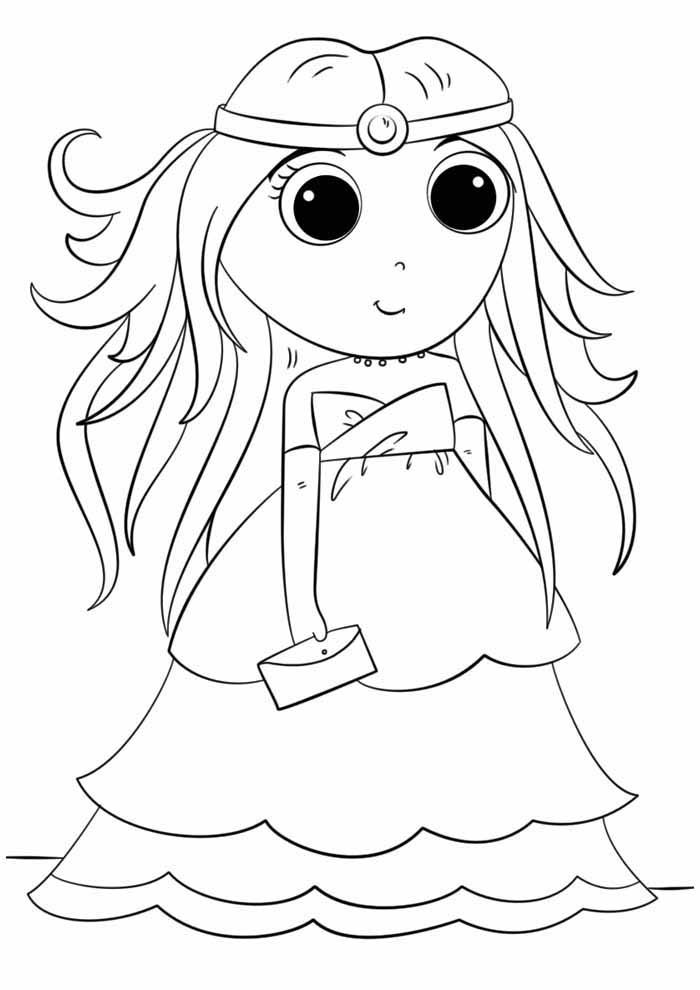 princesa para colorir anime