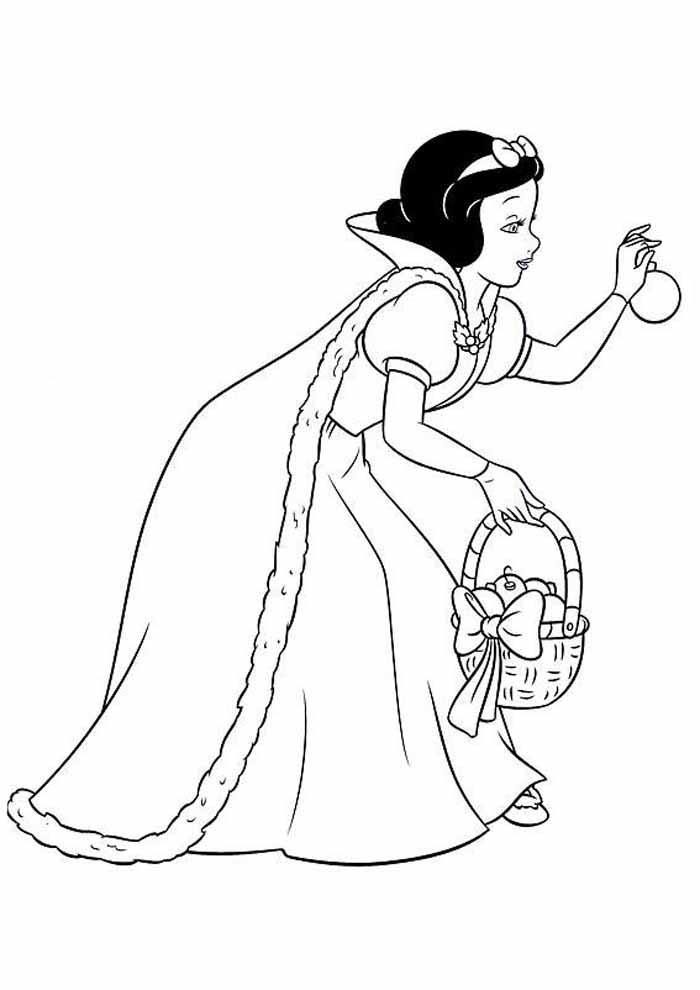 princesa para colorir branca de neve