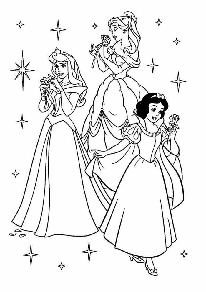 princesa para colorir disney