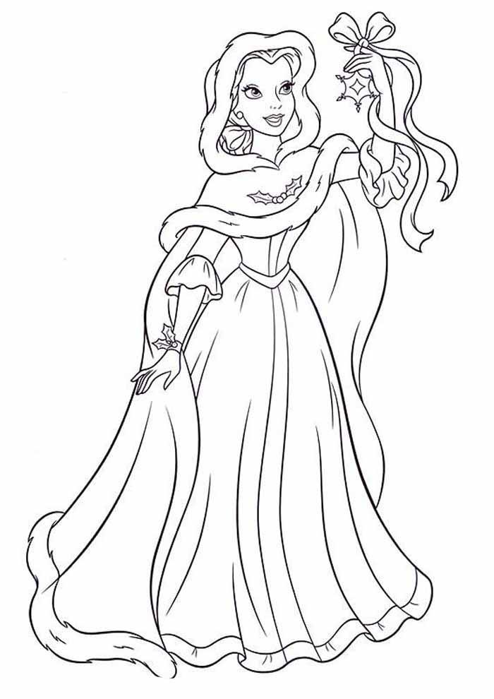 princesa para colorir estrela na mão